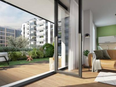 Apartament cu o camera si curte 40 mp, zona semicentrala, bloc nou!