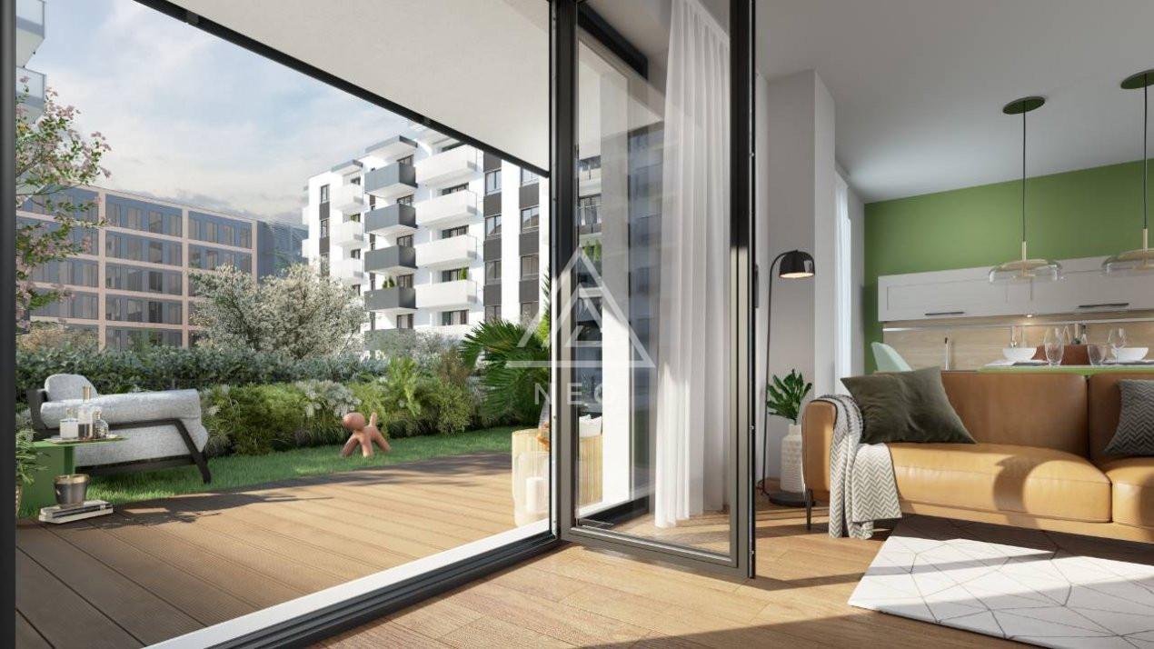Apartament cu o camera si curte 40 mp, zona semicentrala, bloc nou! 1