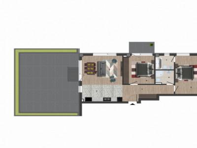 Apartament cu 3 camere semidecomandat si terasa generoasa in Europa!